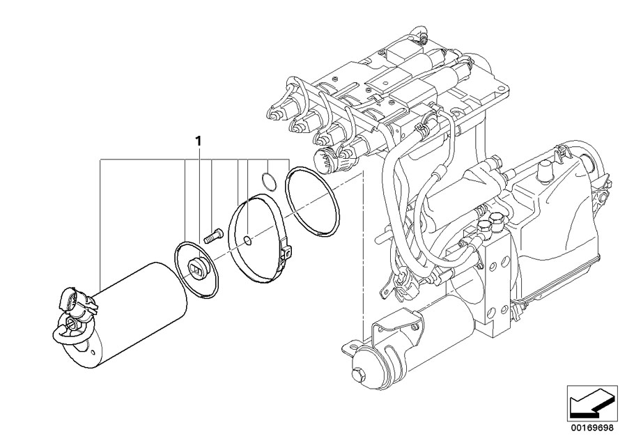 2007 BMW M6 Set, electric motor. Transmission, Unit