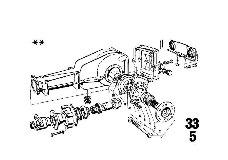 BMW 2002 Shaft seal. 54X38X10. Drive, HOUSING, SUSPENSION