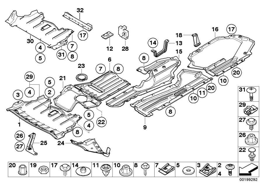 BMW X5 Structural reinforcement panel. Suspension, Axle