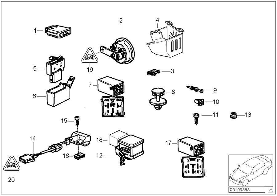 1994 BMW 318ti Universal socket housing uncoded. 4 POL