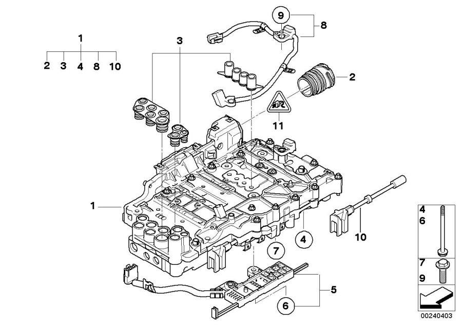 2009 BMW 128i Repair kit, Mechatronic. Transmission