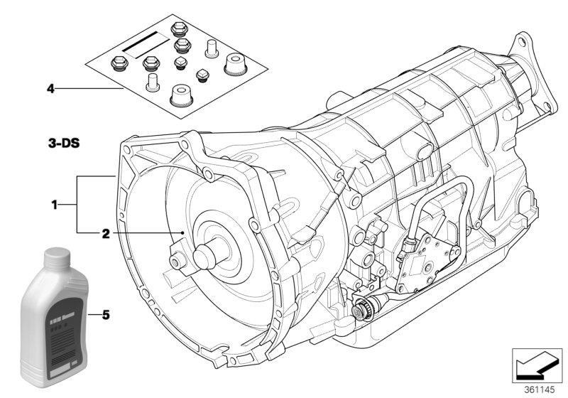 2002 BMW 530i Torque converter. U61. Transmission