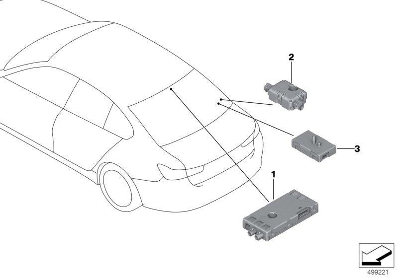 2018 BMW 330i Antenna amplifier. FM/AM/DAB. Electrical