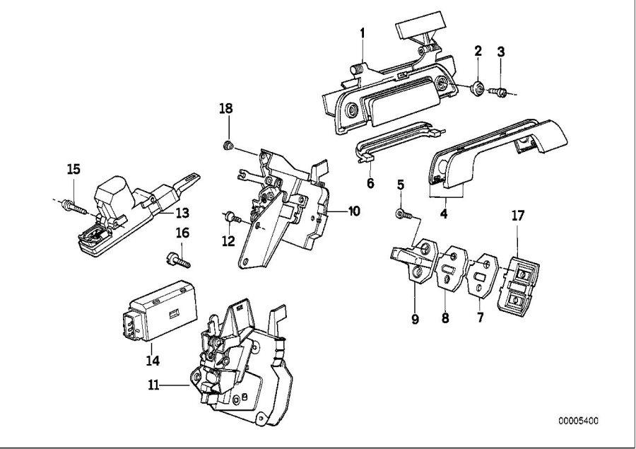 1995 BMW 525i Torx-countersunk head screw. ISA M6X12