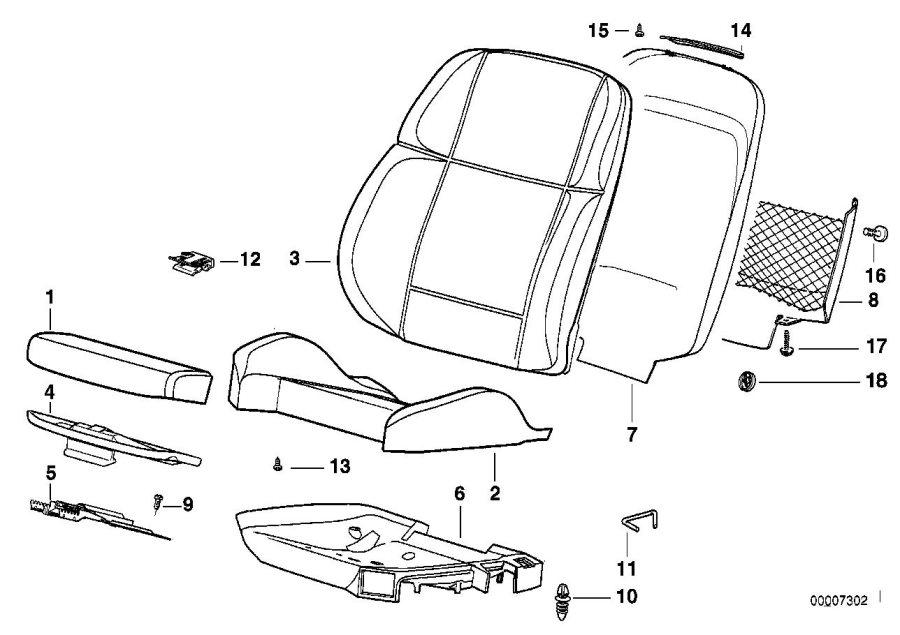 2007 BMW 323i Sensor mat co-driver's seat identif. Airbag
