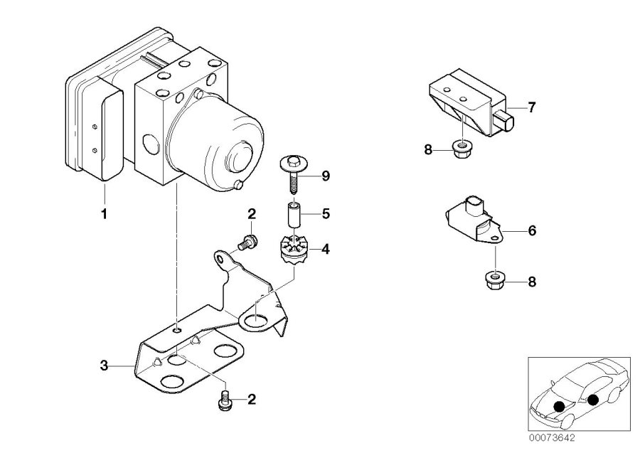 2000 BMW Z3 Accelerating sensor. Sensors, UNIT, Dsc