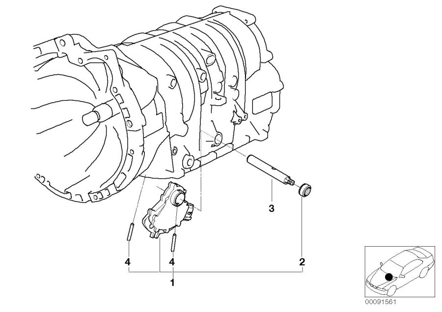 BMW 528i Set, position switch. Gear, Transmission