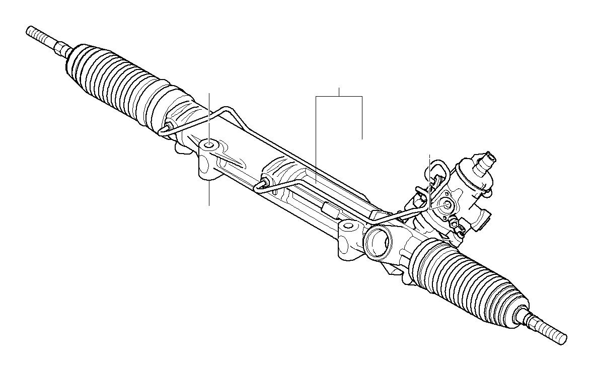 BMW 535i Torque converter servotronic. ZF. Steering, Box