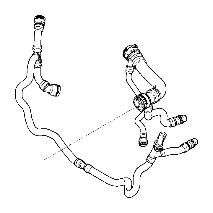BMW 528xi Return hose. Cooling, Hoses, System