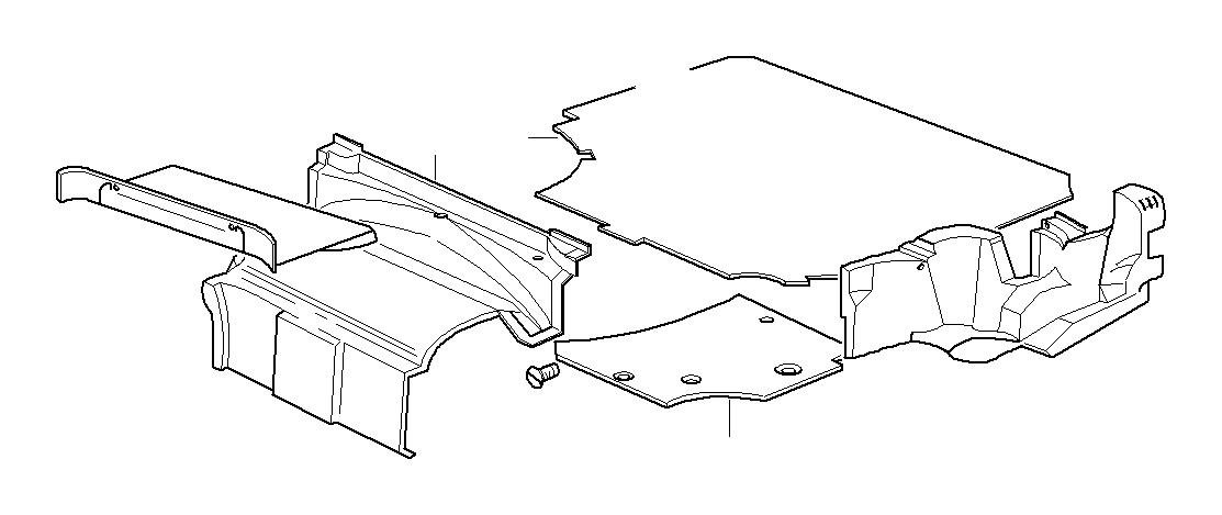1995 BMW 328i Inner hood compartment panel. Mittelgrau