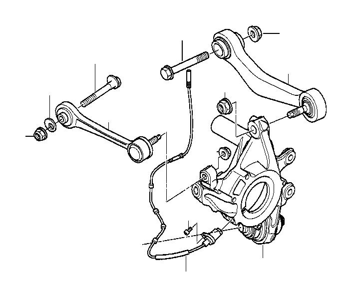 BMW 645Ci Eccentric bolt. M10x66 zns3. Suspension, axle