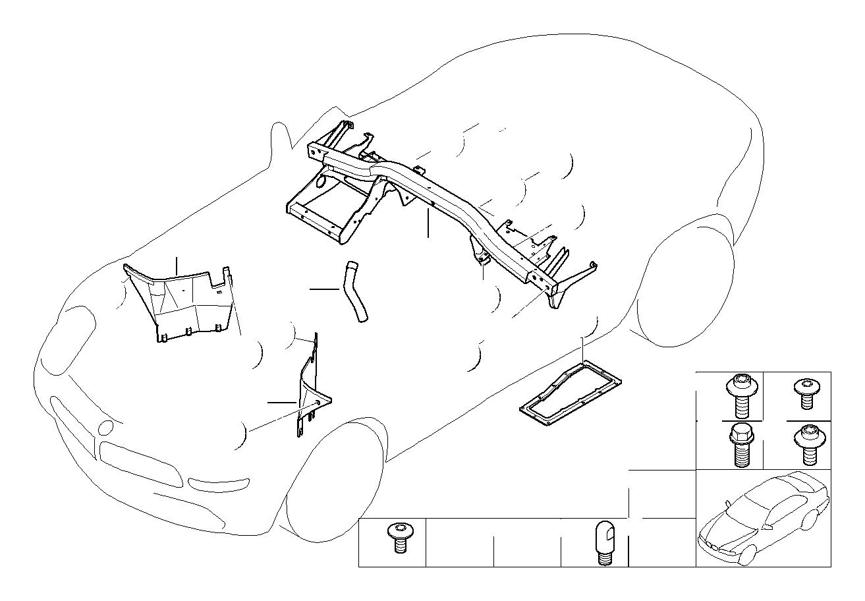 Bmw 328i Torx Bolt With Washer M6x14 Ski Bag