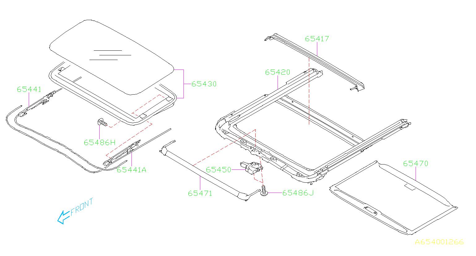 2018 Subaru Outback Screw-sun roof. Body, sunroof