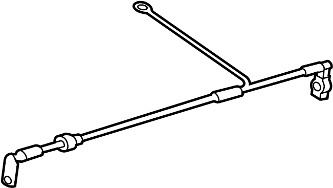 2010 Volkswagen CC Battery Cable. Trans, Auto, Liter