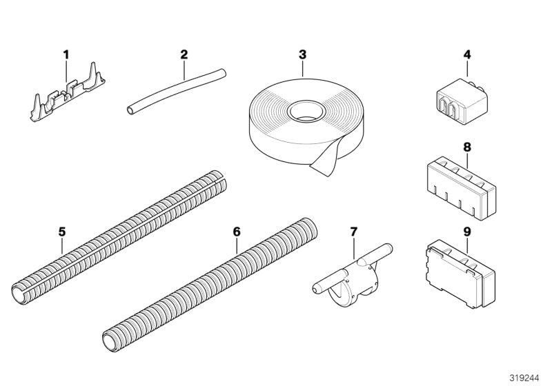 BMW Alpina B7 Fabric adhesive tape abrasion resistant