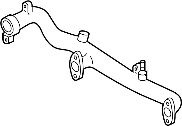 Nissan Xterra Engine Coolant Crossover Pipe. WATER, PUMP