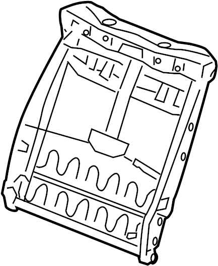 Nissan Xterra Seat Back Frame (Front). MANUAL, FOLD, FLAT