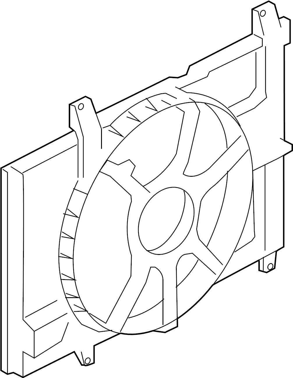 Nissan Cube Engine Cooling Fan Shroud. RADIATOR, FITTING