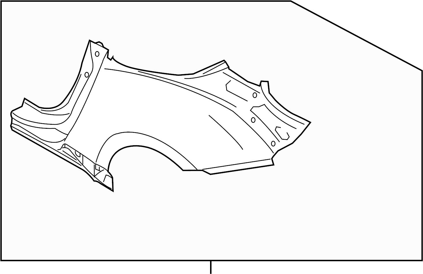 Nissan 370z Quarter Panel Left Rear Roadster
