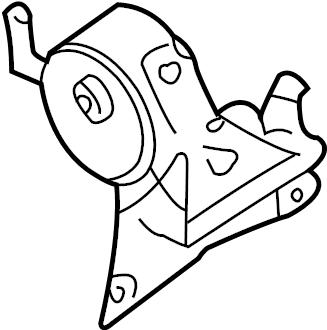 Nissan Sentra Engine Mount (Left, Front). TRANSMISSION