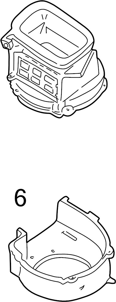 Nissan Altima Hvac blower motor housing (lower). Unit