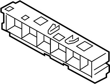 Nissan Sentra Housing Relay Box. FITTING, ENGINE, ROOM