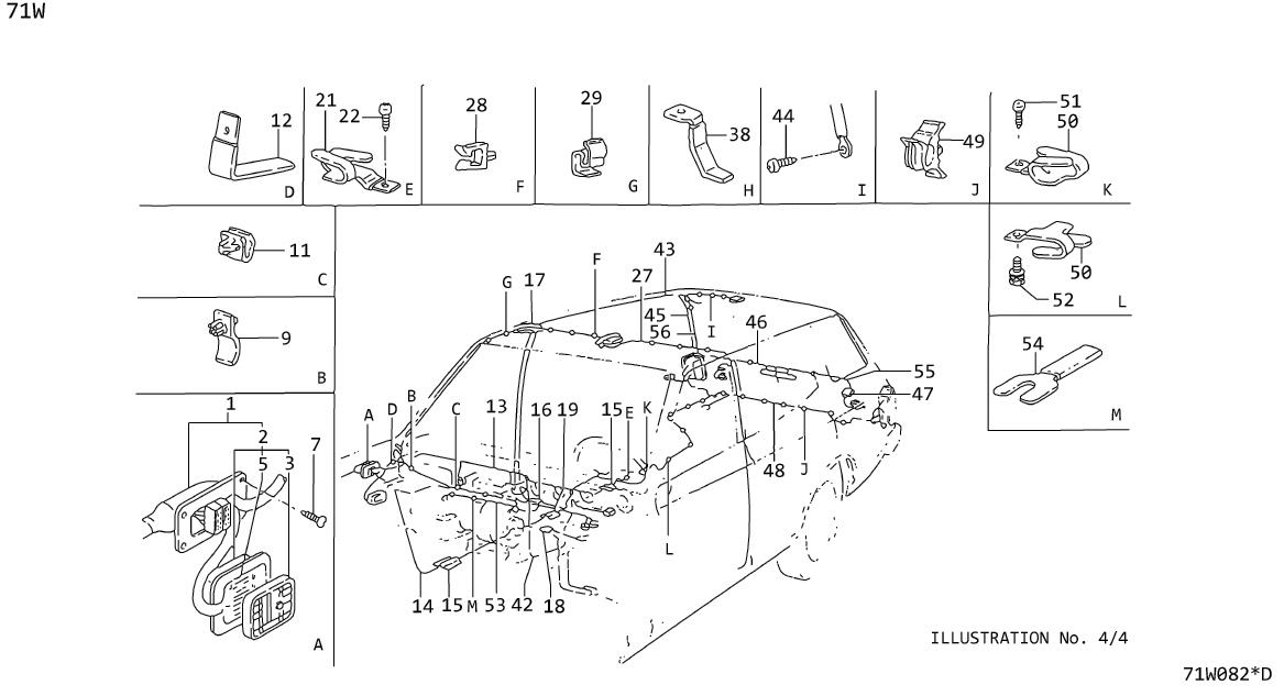 Datsun 280Z Clip Wiring Harness. Protector Flatwire