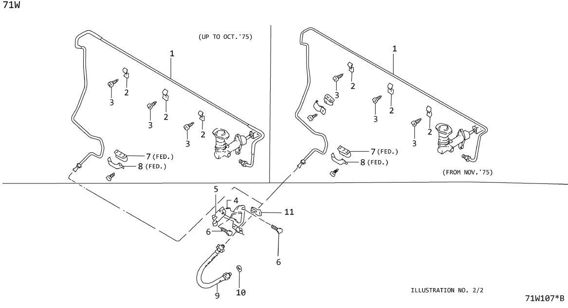 Nissan 300ZX Brake Hydraulic Hose (Rear). NICHIRIN, SELECT