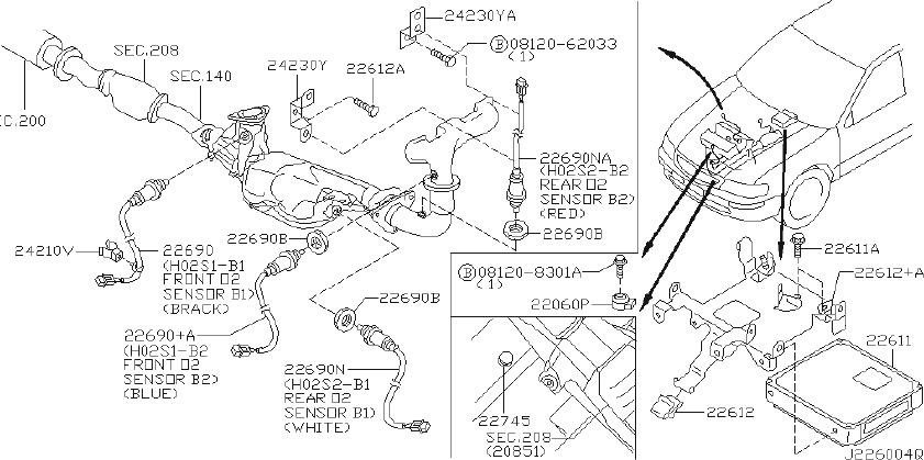 Nissan Maxima Engine Control Module. ALUMINUM, SES, INCH