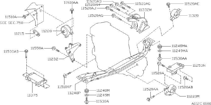 Nissan Sentra Insulator Engine MOUNTING_ L. (Left, Front