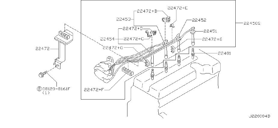 Nissan Sentra Clamp High Tension Cable. SUMITOMO, System
