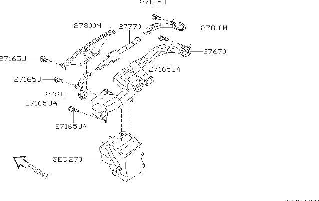 Nissan Sentra Instrument Panel Air Duct. NOZZLE, HVAC