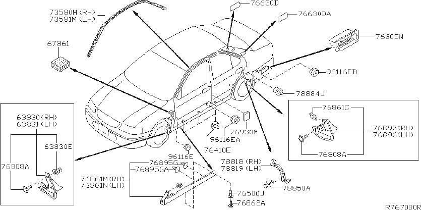 Nissan Sentra Quarter Panel Splash Shield (Right, Rear