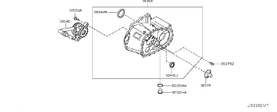 Nissan Sentra Manual Transmission Output Shaft Seal