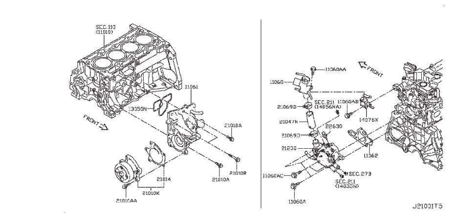 Nissan Sentra Gasket Water Pump. Gaskt Watr Pump