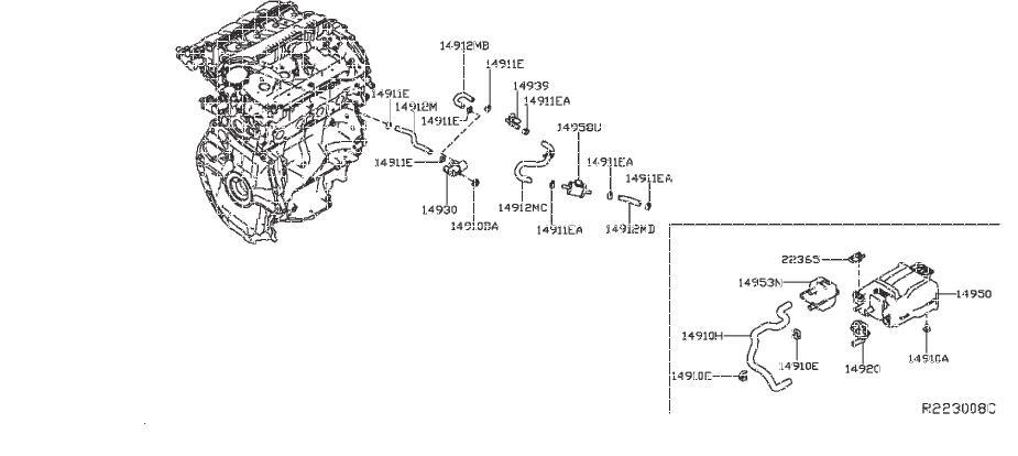 Nissan Sentra Evaporator Control System Pressure Sensor