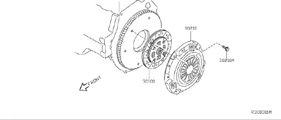 Nissan Sentra Clutch Pressure Plate Bolt. COVER, DISC