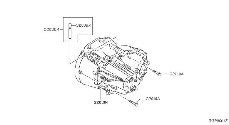 Nissan Sentra Manual Transmission. FITTING, TRANSAXLE