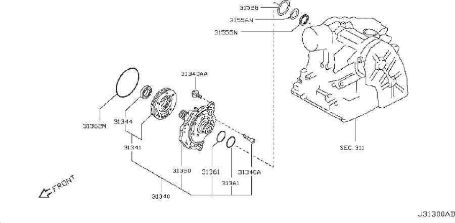 Nissan Versa Bearing Needle, Thrust. TRANSMISSION, SPEED