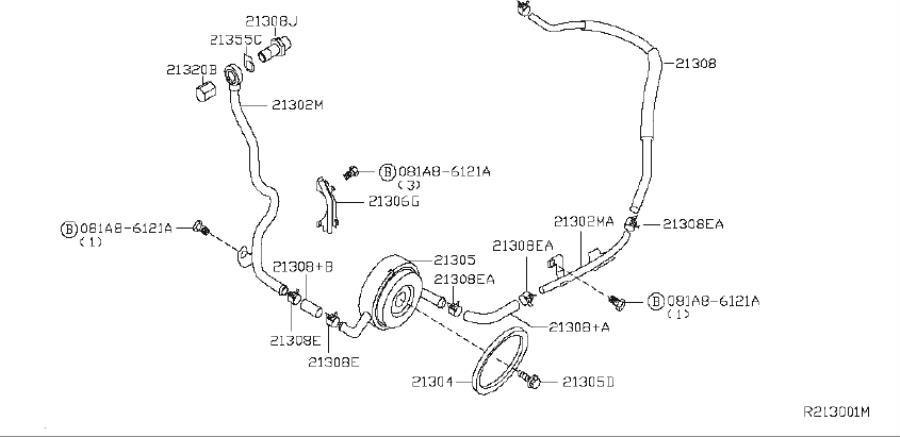 Nissan Altima Hose Water, Oil Cooler. System, Cooling