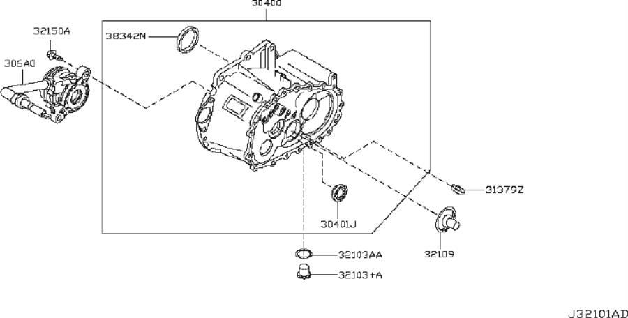 Nissan Altima Manual Transmission Output Shaft Seal