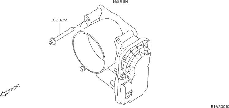 Nissan Frontier Fuel Injection Throttle Body. CHAMBER