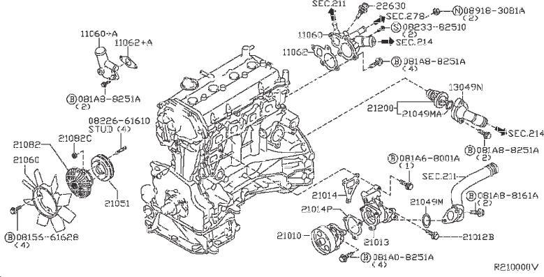 Nissan Frontier Engine Coolant Temperature Sensor. BUMP