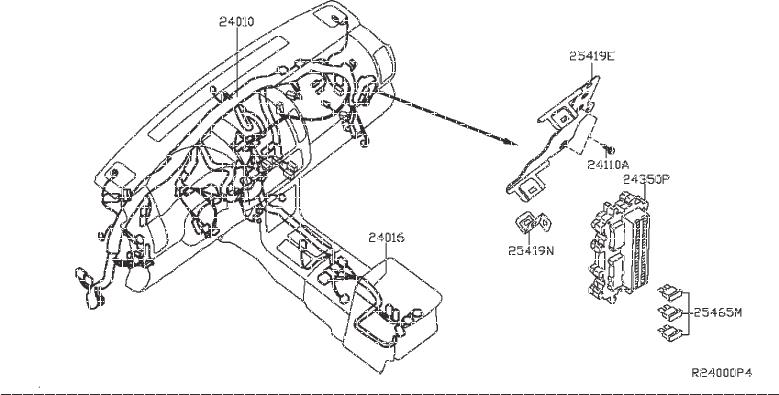 Nissan Frontier Engine Wiring Harness. FITTING, ROOM, MAIN