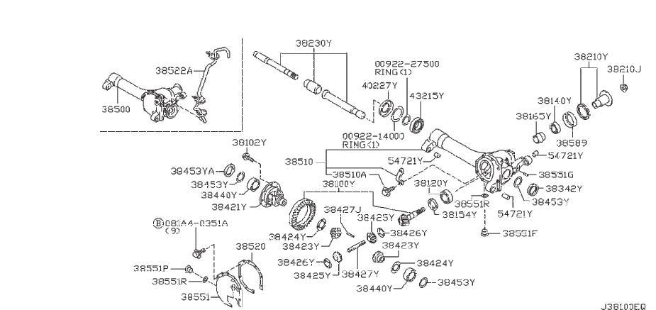 Nissan Frontier Beam Axle. Center Differential. Final