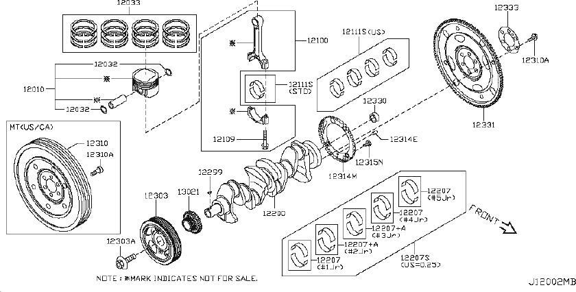 Nissan Juke Bolt Flywheel. CONN, LOCATION, STAMPING