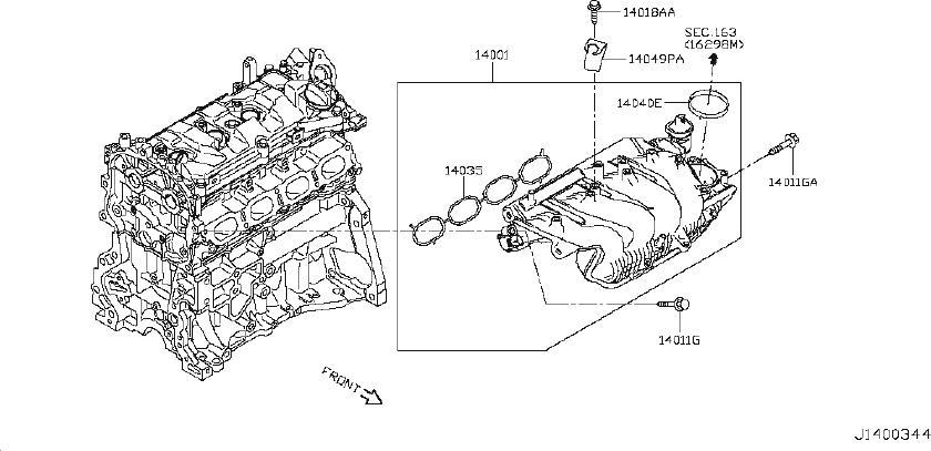 Nissan Juke Exhaust Manifold Gasket. Engine, INTAKE, COVER