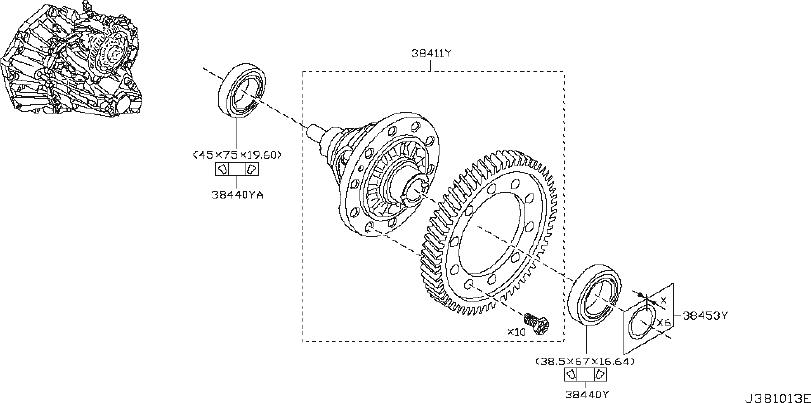 Nissan Juke Manual Transmission Differential Bearing