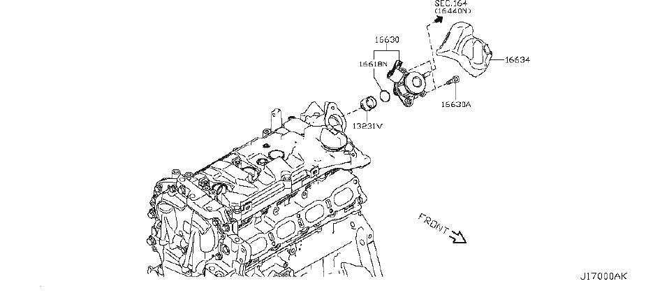 Nissan Rogue Sport Lifter Fuel Pump, High Pressure. Lifter