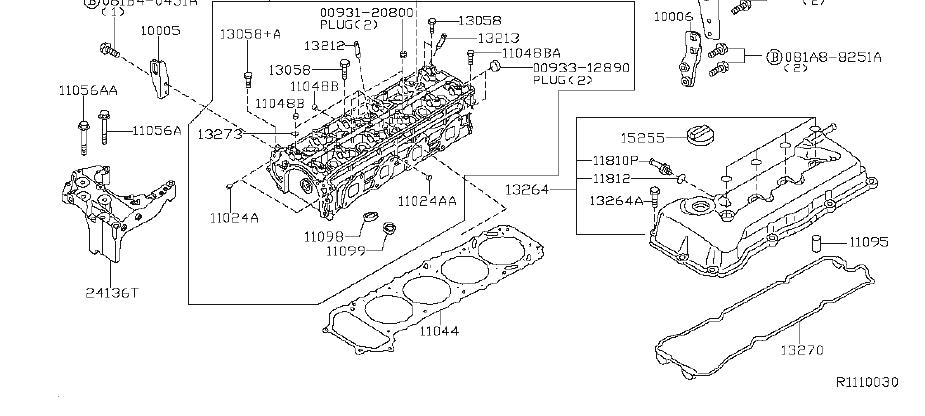 Nissan Altima A/c compressor bolt. Fwd, assembly, awd